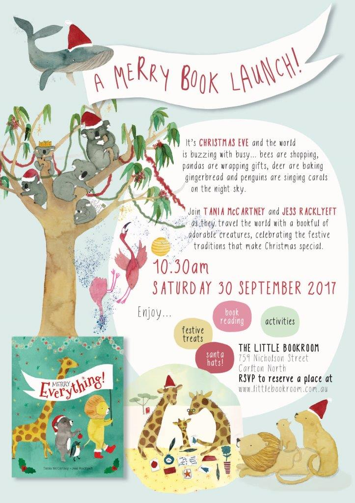 Merry Everything Book Launch poster smallest