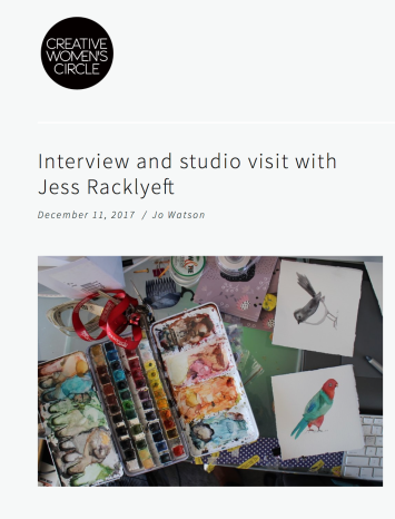 Creative Women's Circle - https://www.creativewomenscircle.com.au/creative-womens-circle/interview-and-studio-visit-with-jess-racklyeft